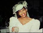 Dionne on her wedding day